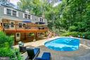 Removable 5 foot tall pool fence conveys - 5912 ONE PENNY DR, FAIRFAX STATION