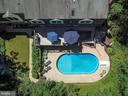 Aerial view of backyard/pool space - 5912 ONE PENNY DR, FAIRFAX STATION