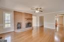 Family Room with Brick Fireplace - 111 NAUTICAL CV, STAFFORD