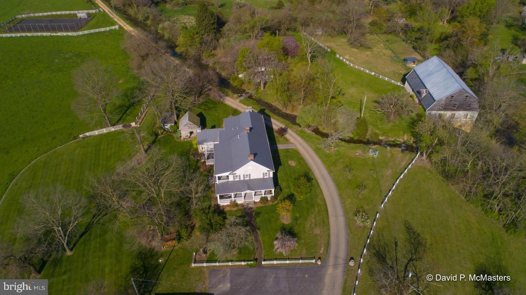 Stone 1816 Mill to right of  millrace.Tennis Court - 1208 BEDINGTON RD, MARTINSBURG