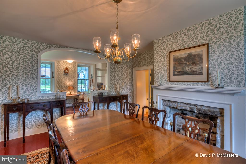 1 of 7 fireplaces in this big home. - 1208 BEDINGTON RD, MARTINSBURG