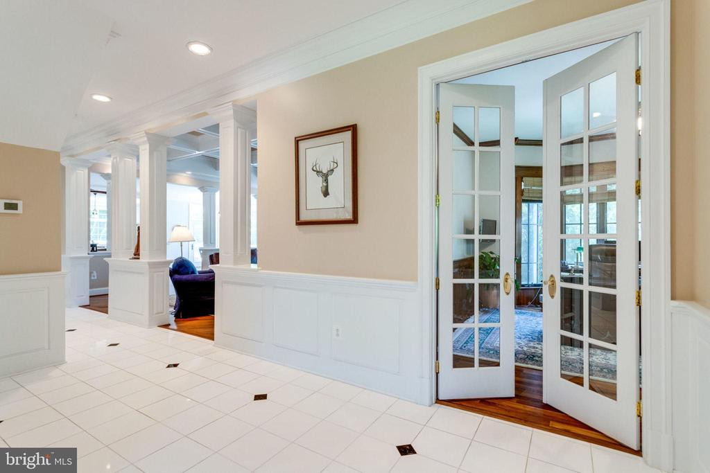 GLASS DOORS TO FORMAL OFFICE - 1030 HARVEY RD, MCLEAN