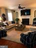 Family room opens off the kitchen~fireplace! - 504 CREEK CROSSING LN, GLEN BURNIE