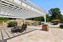 Pergola by pool house - 14416 LOYALTY RD, LEESBURG