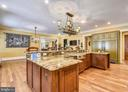 Chef's kitchen w/ subzero, Viking range & cooktop - 14416 LOYALTY RD, LEESBURG