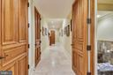 Basement hall (solid cherry 8ft doors throughout) - 14416 LOYALTY RD, LEESBURG