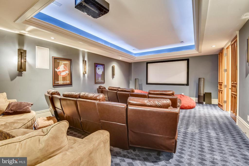 Home theatre for private move nights - 14416 LOYALTY RD, LEESBURG