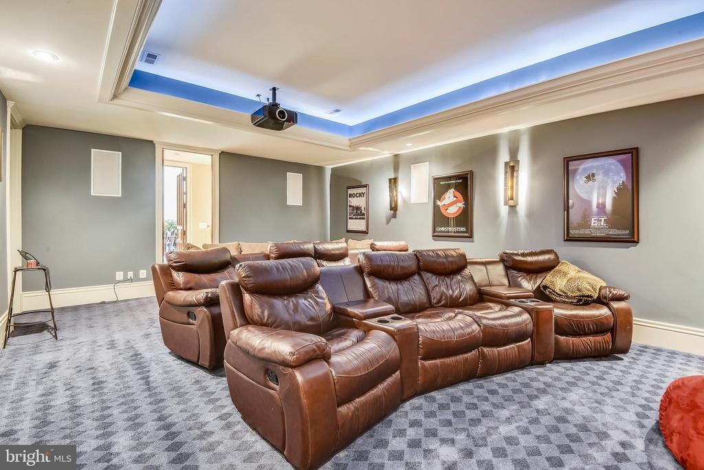 Home theatre - 14416 LOYALTY RD, LEESBURG