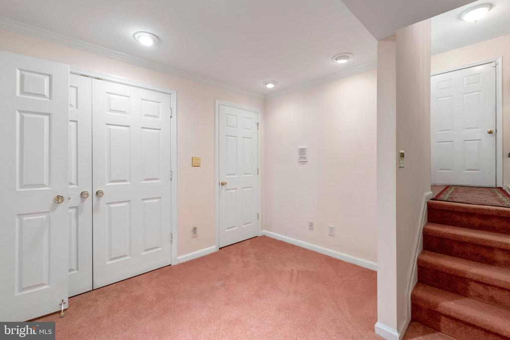 LOWER LEVEL ENTRY FROM TWO CAR GARAGE - 100 HARBOURVIEW DR, LOCUST GROVE