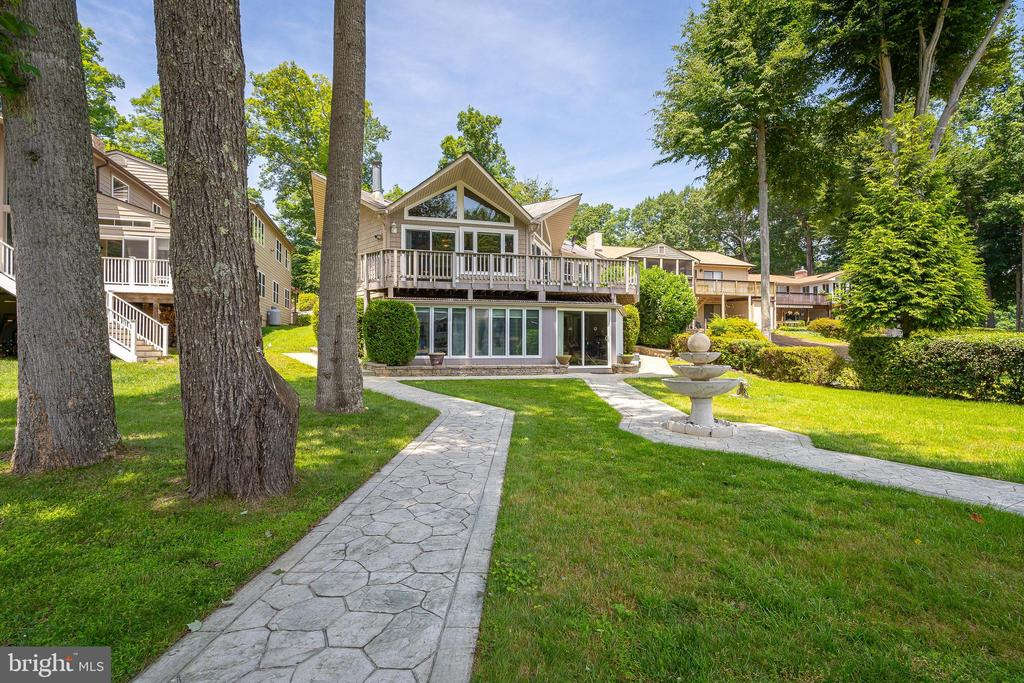 VIEW OF THE HOME FROM YOUR DOCK - 100 HARBOURVIEW DR, LOCUST GROVE