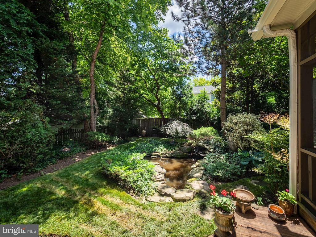 Gorgeous, mature landscaping - 4412 WALSH ST, CHEVY CHASE