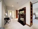 Owner's suite w/ sitting rm & two-sided fireplace - 4412 WALSH ST, CHEVY CHASE