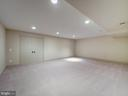 Expansive space in lower level - 4412 WALSH ST, CHEVY CHASE