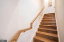 Hardwood Steps with Decorative Wall Panels - 3965 OAK ST, FAIRFAX