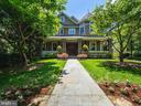 Full-width front porch - 4412 WALSH ST, CHEVY CHASE