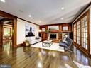Built-ins of natural Cherry - 4412 WALSH ST, CHEVY CHASE