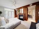 Owner's suite with fireplace with antique mantel - 4412 WALSH ST, CHEVY CHASE