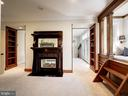 Owner's suite sitting rm with fireplace & day bed - 4412 WALSH ST, CHEVY CHASE