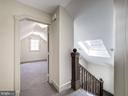 Third level landing with skylight - 4412 WALSH ST, CHEVY CHASE