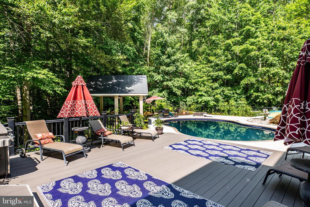 Deck,  Pool and Gazebo - 36 BETHANY WAY, FREDERICKSBURG