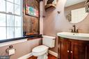 1/2 bath on main level - 36 BETHANY WAY, FREDERICKSBURG