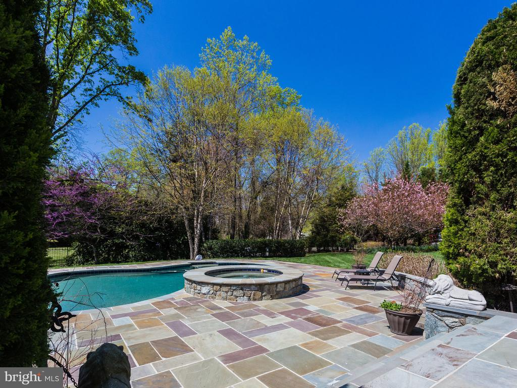 WALKOUT TO POOL FROM LOWER LEVEL FAMILY ROOM - 1030 HARVEY RD, MCLEAN