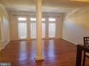 Expansive living room with french doors - 1850 BRENTHILL WAY, VIENNA