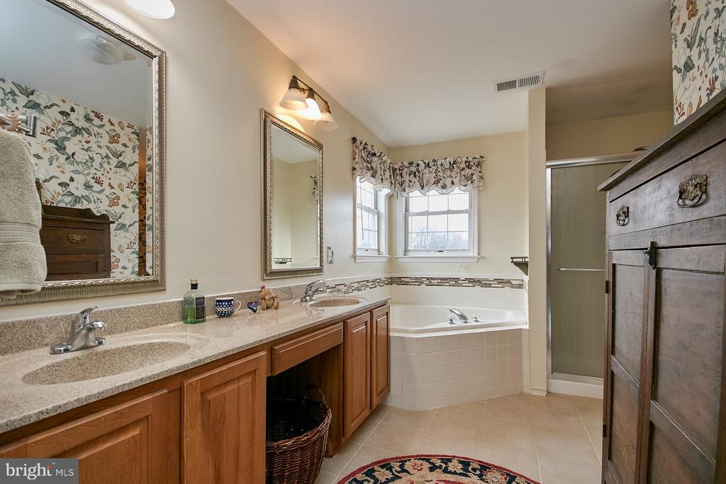 Master Bath with 2 Sinks, Separate Tub and Shower - 19187 SWAN CT, PURCELLVILLE