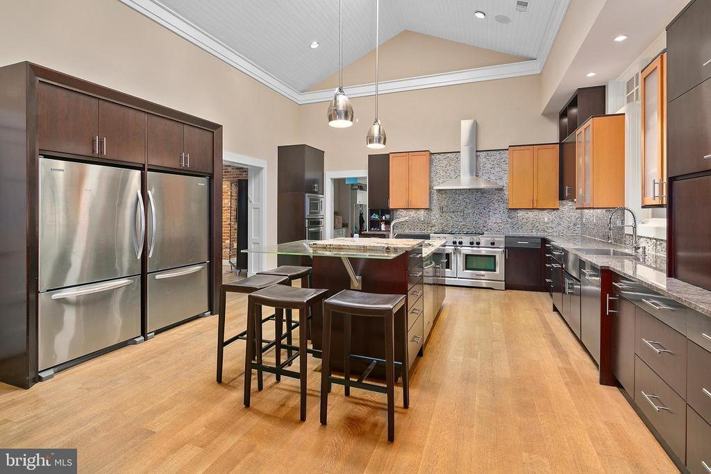 Gourmet Kitchen 2 Side by Side Refrigerators - 11304 HUNTOVER DR, NORTH BETHESDA