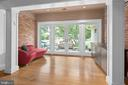 Dining Room opens to Front Porch - 11304 HUNTOVER DR, NORTH BETHESDA
