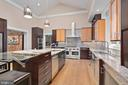 Gourmet Kitchen w/Vaulted Ceiling & Skylights - 11304 HUNTOVER DR, NORTH BETHESDA