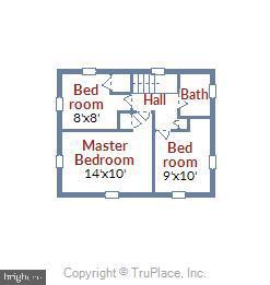 Upper Level Floor Plan - 398 N EDISON ST, ARLINGTON