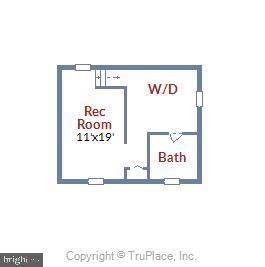 Lower Level Floor Plan - 398 N EDISON ST, ARLINGTON