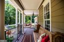 Large front porch with ample seating - 13304 BROOKCREST CT, FREDERICKSBURG