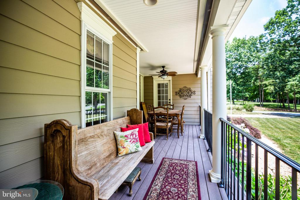 French doors entry/exit onto front porch - 13304 BROOKCREST CT, FREDERICKSBURG