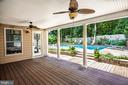 Covered porch from sunroom to pool area - 13304 BROOKCREST CT, FREDERICKSBURG