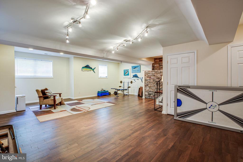 Lower level game room - 13304 BROOKCREST CT, FREDERICKSBURG