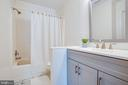 Upper full bath - 13304 BROOKCREST CT, FREDERICKSBURG