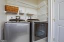 Upper level laundry with washer/dryer - 13304 BROOKCREST CT, FREDERICKSBURG