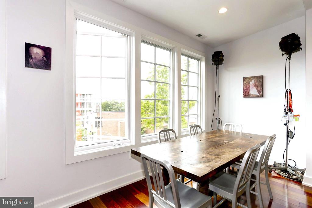 Open Dining room  facing south. - 763 MORTON ST NW #4, WASHINGTON