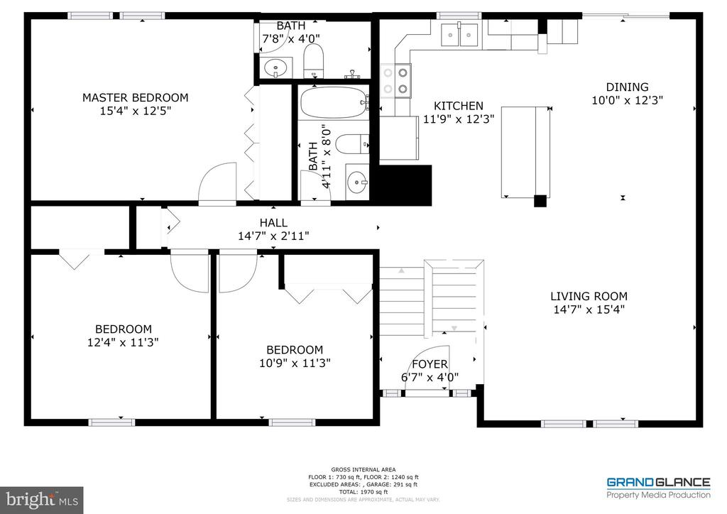 The Main Level Floor Plan - 8405 TERRA WOODS DR, SPRINGFIELD