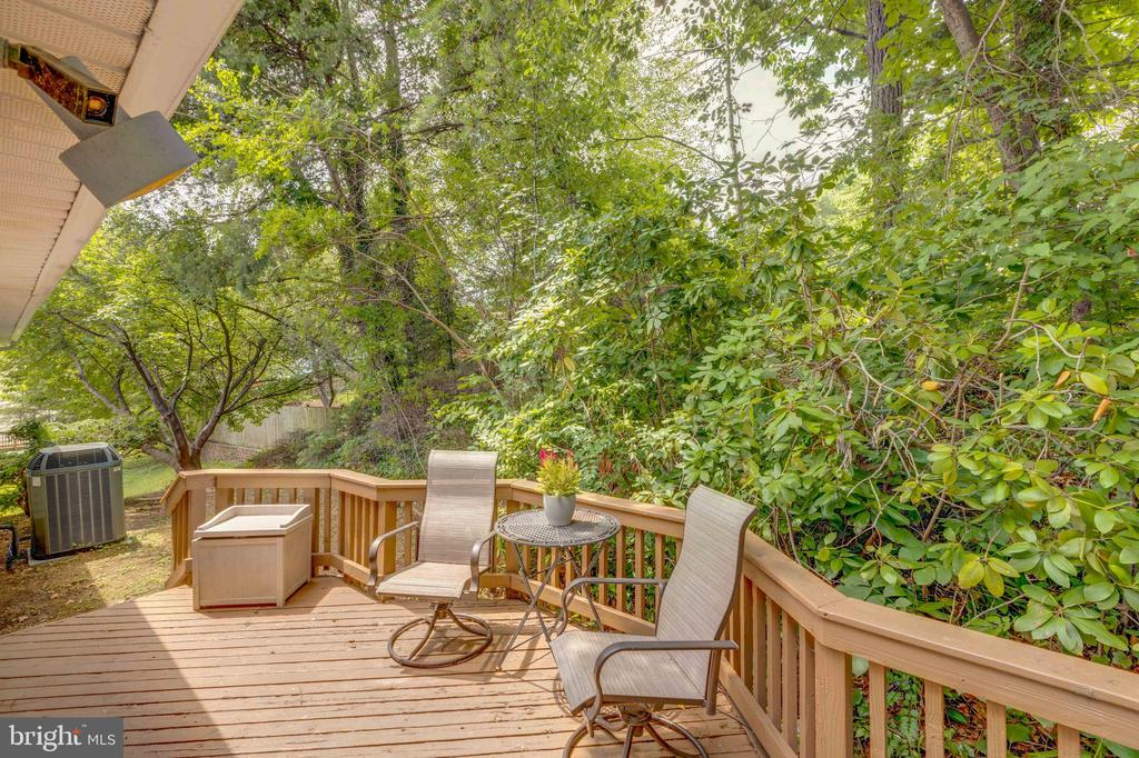 View of Deck from Kitchen and Dining Room - 8405 TERRA WOODS DR, SPRINGFIELD