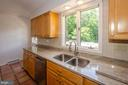 Sink overlooks view of pool - 20659 FURR RD, ROUND HILL