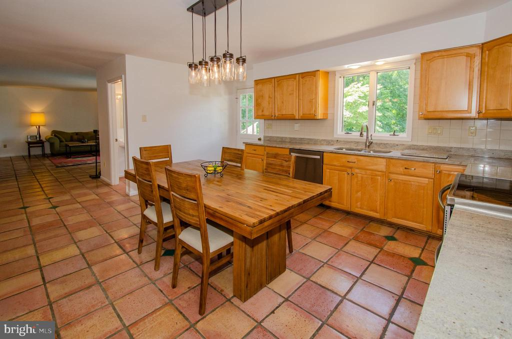 Fun Kitchen overlooks family room and pool - 20659 FURR RD, ROUND HILL