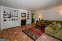 Family Room with built -ins an fireplace - 20659 FURR RD, ROUND HILL