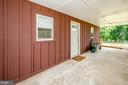 Covered front porch at Guest House - 20659 FURR RD, ROUND HILL