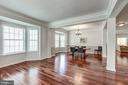 Living Room / Dining Room with Bay Windows - 25273 DOOLITTLE LN, CHANTILLY
