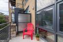 5 x 12 patio overlooking Champlain St. - 2301 CHAMPLAIN ST NW #305, WASHINGTON