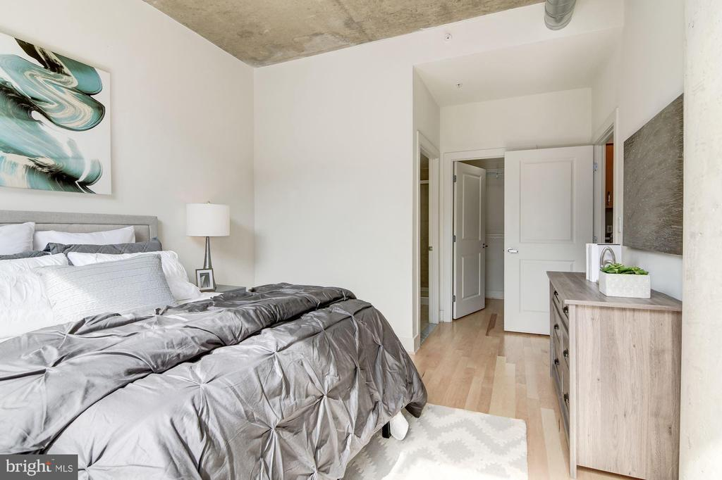 Master bathroom and walk-in closet entrances - 2301 CHAMPLAIN ST NW #305, WASHINGTON