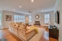 Family Room with Fireplace - 5623 JOHNSON AVE, BETHESDA